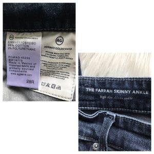 Ag Adriano Goldschmied Jeans - AG Jeans Farrah Skinny Ankle High Rise Split Hem